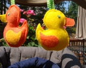 Tie on Ducky Toy, set of two