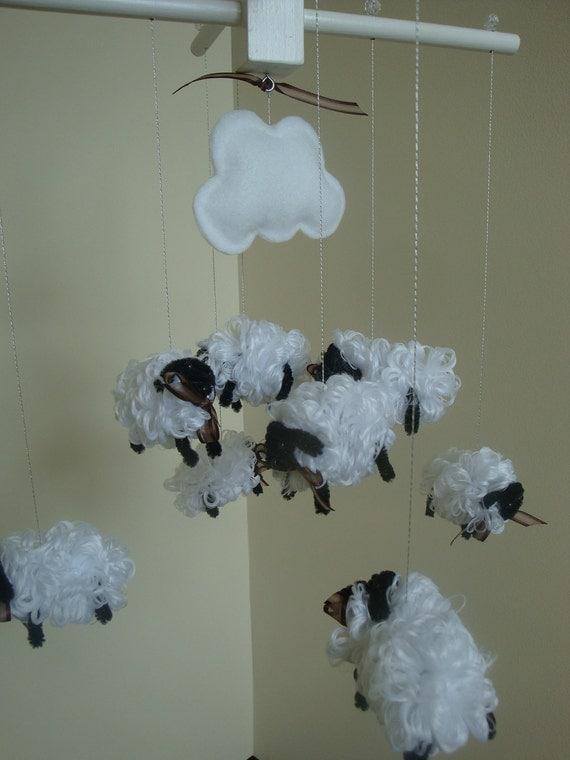 Sheep Lamb Mobile for Nursery