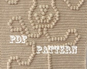 Crochet Pattern - Crochet Baby Blanket  - Dancing Dog Baby Snuggle Blanket  - Carseat or Stroller Blanket Pattern