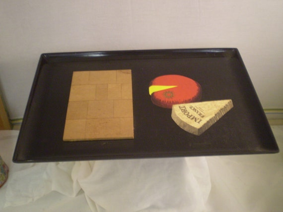 Mid Century Couroc Cheese Board
