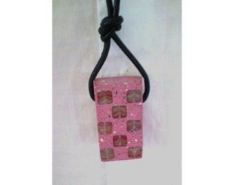 Concrete Pendant Necklace , Pink Concrete Jewelry,  Modern Concrete. ' Oxford Collection '