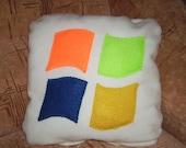 12x12 decorative handmade pillow - windows icon pillow - White Geekery Pillow