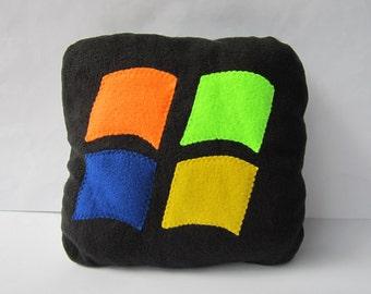 windows icon pillow - 12x12 handmade decorative pillow