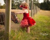 red vevet toddler dress