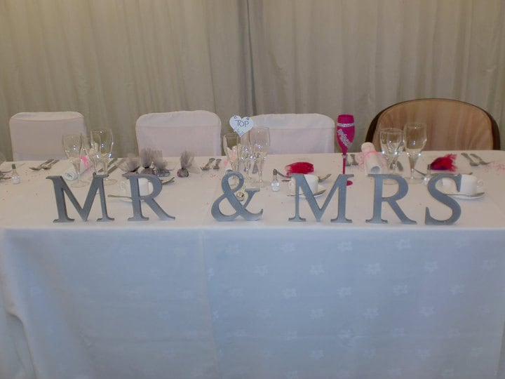 Wooden Mr & Mrs Letters