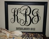 "11 ""x14"" DECAL for Monogram Wedding Gift (frame NOT included)"