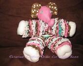 RESERVED: pink, green, brown yo-yo elephant