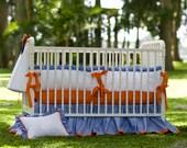 Crib Set - Orange & Blue Theme