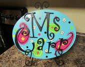 CUSTOM Hand-Painted Paisley Name Sign