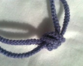 Necklace with Statement Knot, Lavender Crochet Pull-on