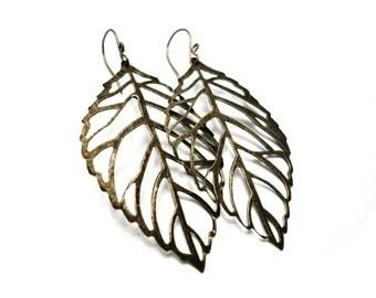 Brass Leaf Earrings - Lightweight. Neutral. Simple. Fabulous.