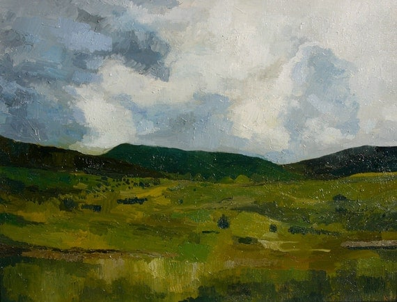 "Steamboat Springs, Colorado Landscape. Oil on Canvas. 18"" X 24"" Painting. Summer"