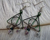 Deathly Hallows - Slytherin House Earrings
