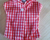 BARBIE vintage checkered bodysuit