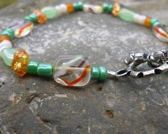 Earth Colored Beaded Bracelet