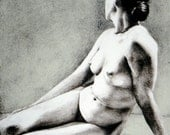 Nude Figure Study Lithograph by Nicole Marie Smith