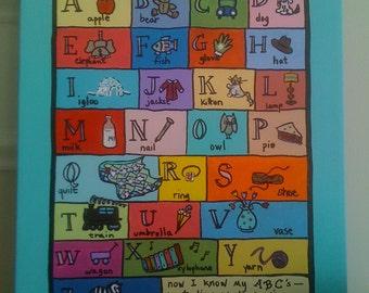 Teal Alphabet