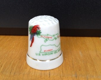 Vintage US Virgin Islands Thimble