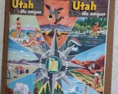 Vintage Utah Tourist Brochure..Wonderful Color Photos..Great 1950s Images..Altered Art..Collage..Mixed Media..Scrapbooking