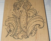 Brenda the Mermaid Rubber Stamp by Stampa Rosa