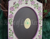 CERAMIC 5x7 Hand-Painted PICTURE FRAME in Lavender