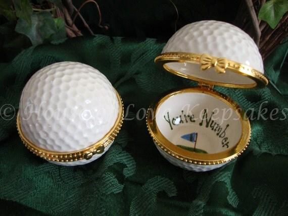 GOLFBALL Ceramic Treasure/Trinket Box