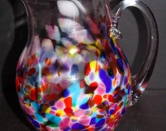 Handblown Glass Pitcher
