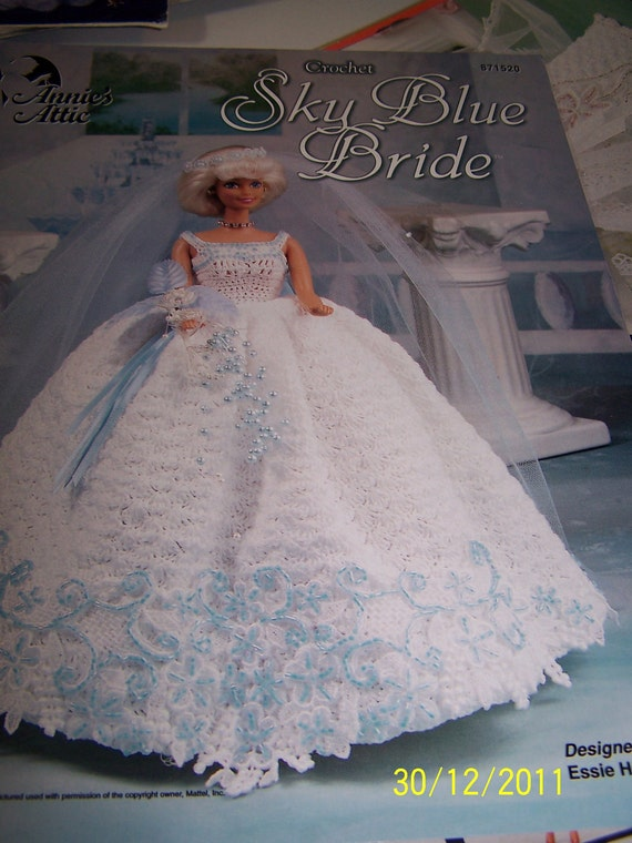 Crochet Pattern Wedding Gown For Barbie By Mirasfiberartstudio