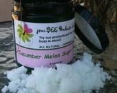 Cucumber Melon Sugar scrub 8oz jar by jeni-BEE