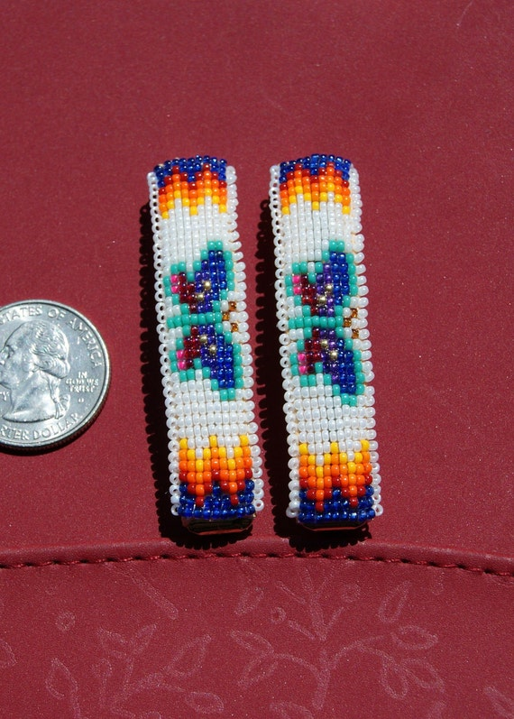 Butterfly Beaded Hair Barrette or Clip