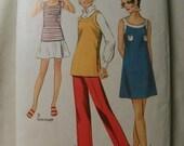 Vintage Simplicity 8838 Misses Mini Dress