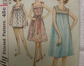 Vintage Simplicity 4484 Misses Shorty Nightgowns and Panties
