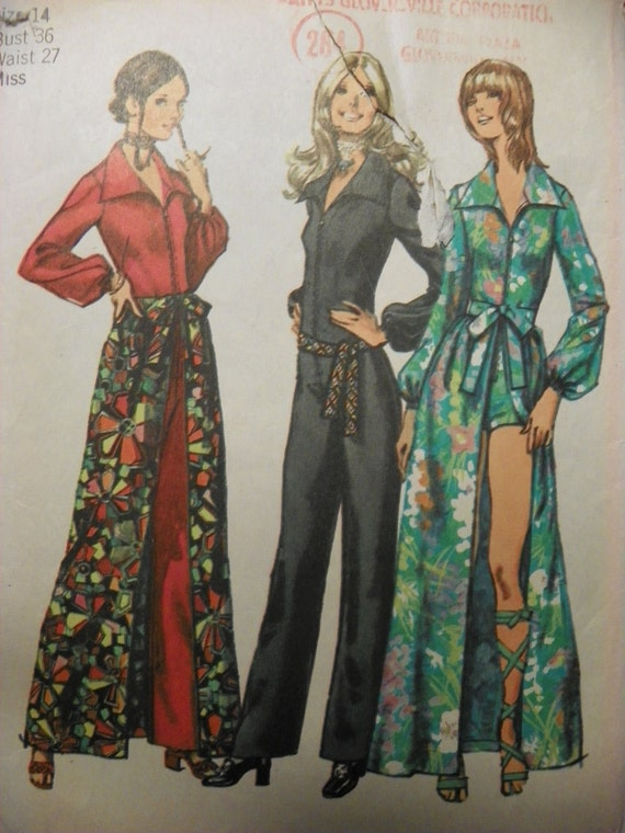 Vintage Simplicity 9674 Misses Jumpsuit in two lengths and skirt