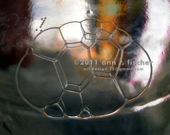 Bubble Photo, Soap Bubble Geometry, Fine Art Photography, Photo Print