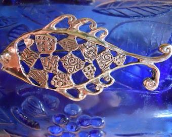 Unique Sterling Silver Fish Pin