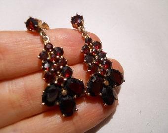 Bohemian 14kt Garnet Earrings