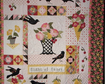 "quilt wall hanging ""flight of fancy"""