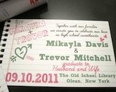 School of Love  Wedding Invitations - School Themed, High School Sweethearts, College Sweet Hearts, Notebook Themed DEPOSIT/SET UP