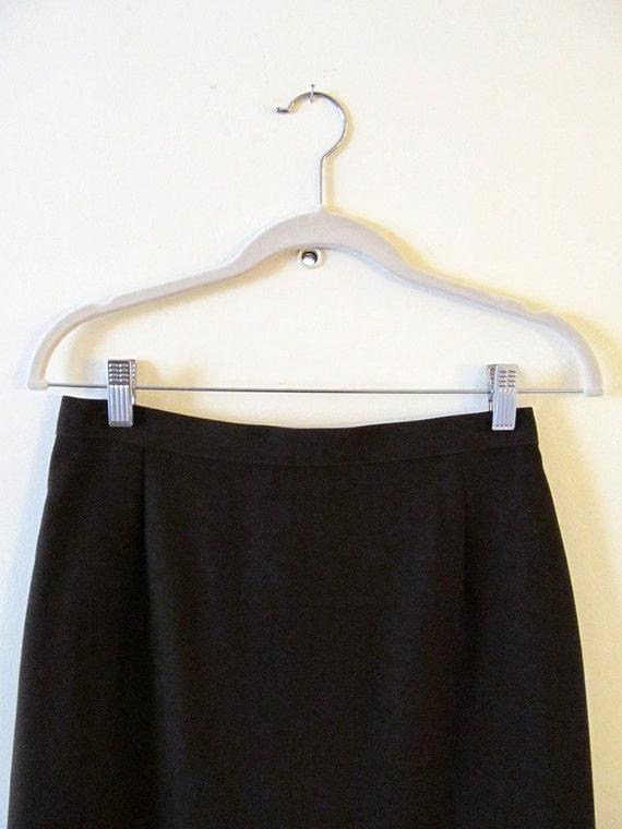 Chocolate Brown Pencil Skirt S M 28 Waist