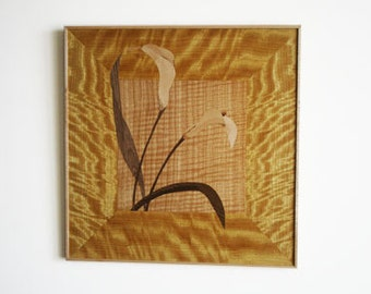 Golden Calalily - Marquetry Wall Hanging