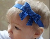 SALE Royal Blue Bow Baby Headband- Toddler Headband- Child Blue Headband