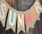 SUMMER burlap banner