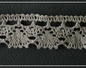 100% Natural linen laces/crochet 4m