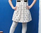 warm polka dot dress size 12 vintage lolita