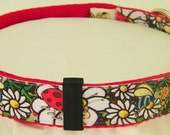 Stylish Designer Exclusive Lady Bug Smiling Flower Bee Colorful Dog Collar ALL SIZES