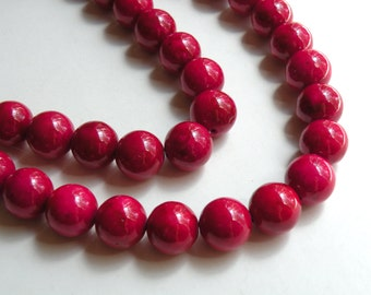 Riverstone beads in rose round gemstone 12mm full strand 4313GS