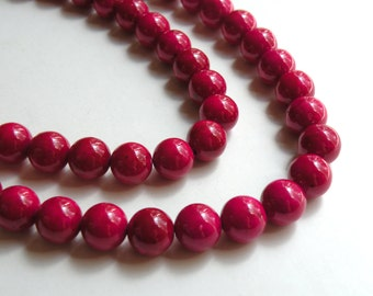 Riverstone beads in rose round gemstone 10mm full strand 4305GS