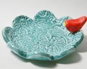 Textured Ceramic Trinket Dish