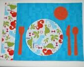 Little Dinosaur Montessori-Style Children's Reversible Placemat: FREE SHIPPING