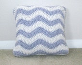 Pillow - Purple and White throw pillow, 12x12, pillow insert included